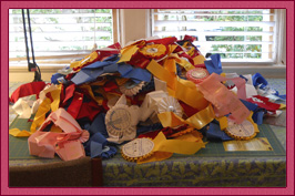 a pile of ribbons